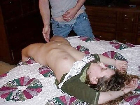 Slim girl wanks two big dicks