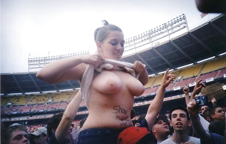 Naked women in stadium — photo 4
