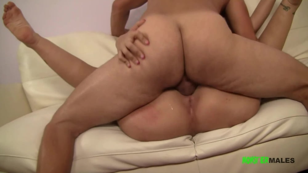 Big dick muscled stud Jerry gets his ass rimmed by Madison