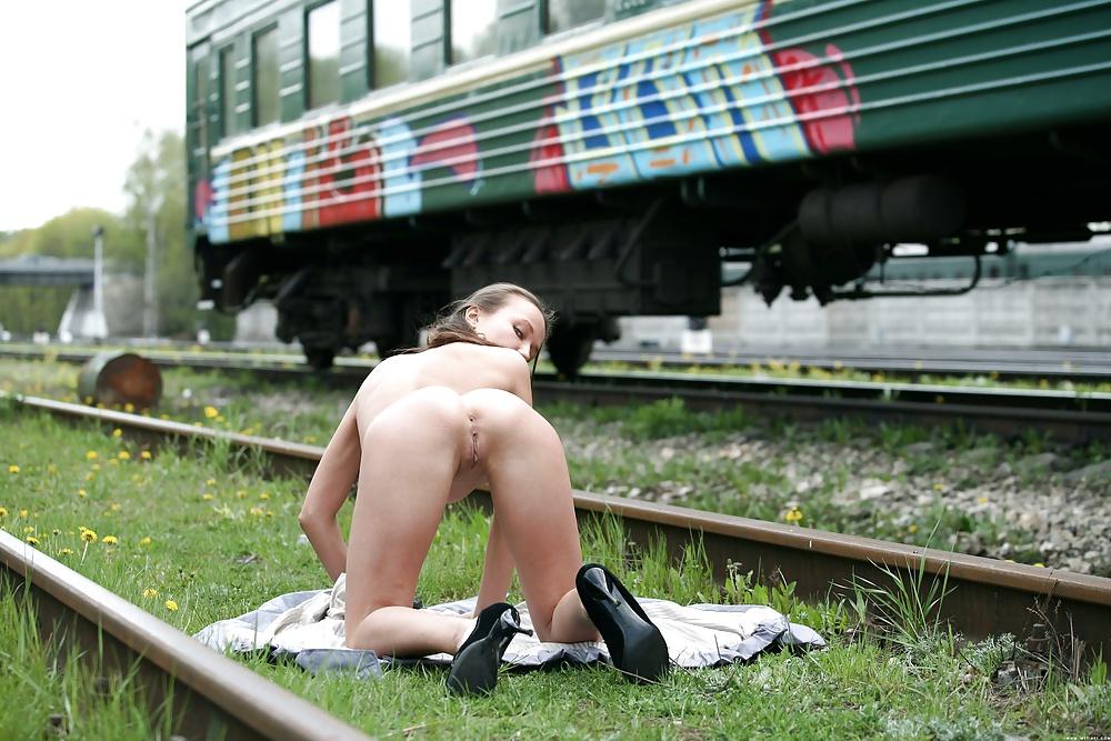 Italian Milf On Train