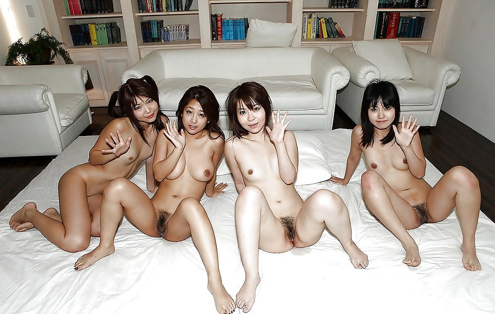 Asian girls group sex — pic 13