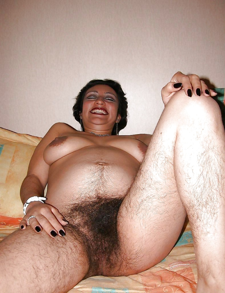 Latina Babe Toying Hairy Pussy
