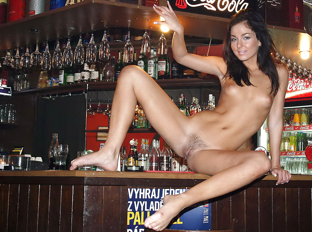 First nudist show in bar and fucking