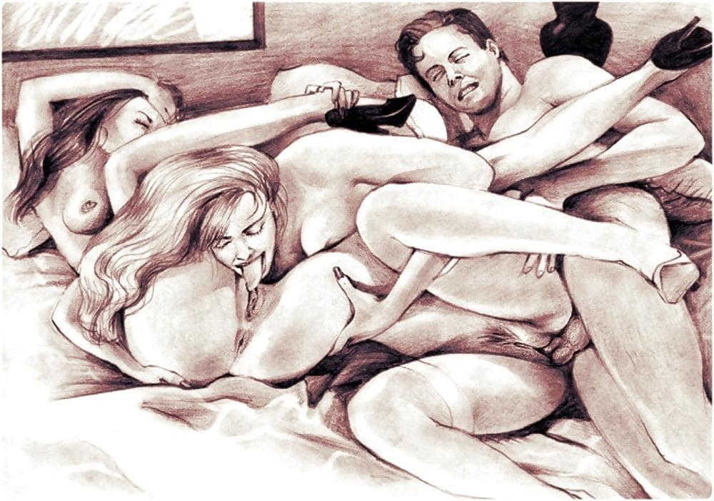 как нарисовать карандашом секс в постели фото моему дяде андрею