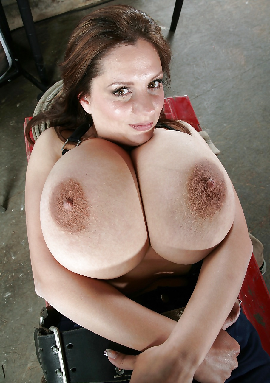 Monster fake tits with older natural tits
