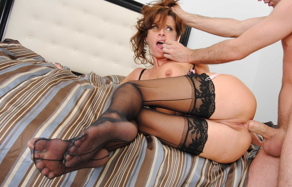 Hot Blonde Stocking With Girl Stocking Sweet