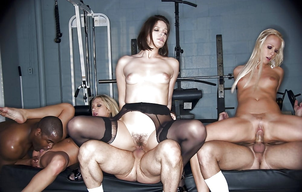 Group sex fitness group gym orgy