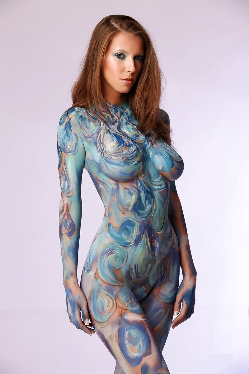 Nudist girls body paint