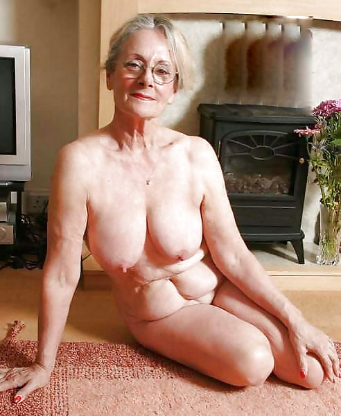 Beautiful naked senior women