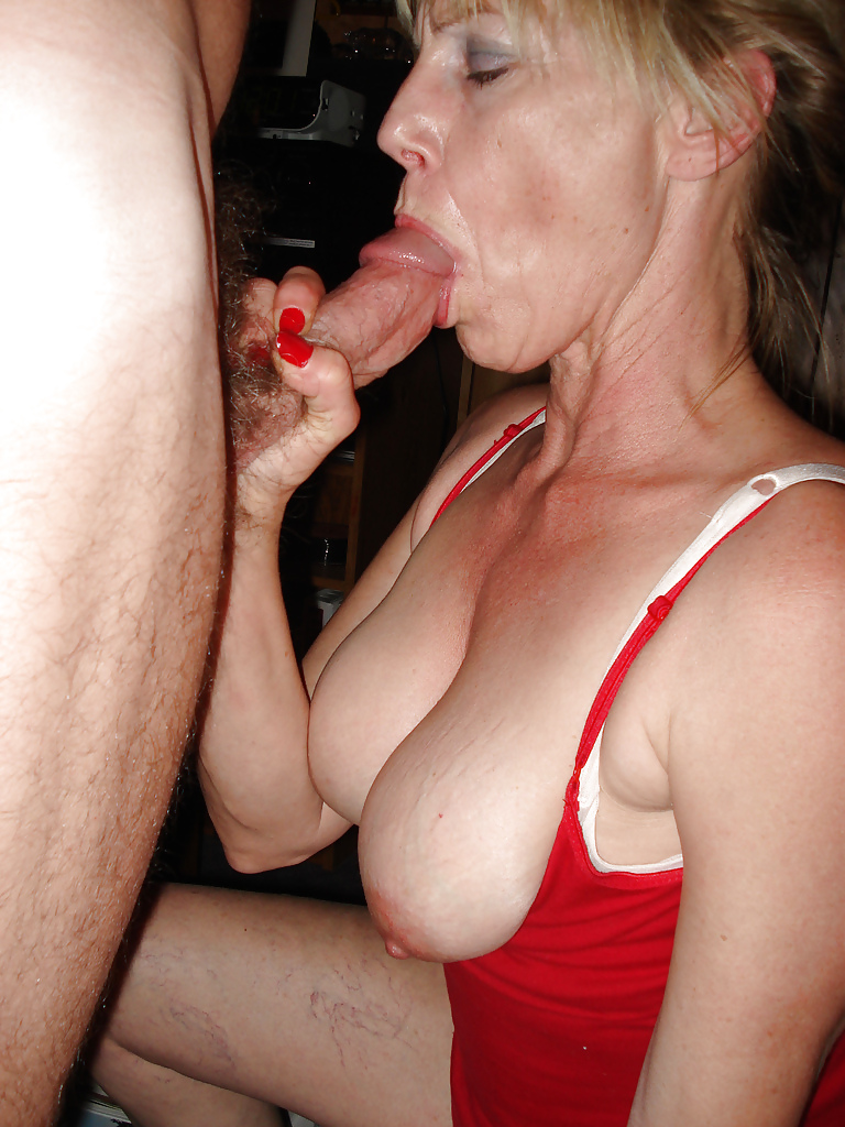 Mature Wife Sucking Cock On Camera