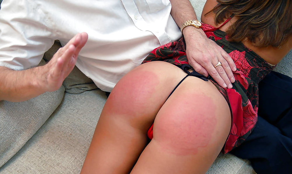 Spanked naked over your wife s knee
