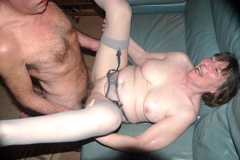 Granny forced fuck slutload a blonde milf followed by two bad guys and taken for fuck
