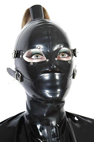 Water Bondage, Latex Mask In Bath