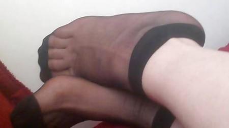 irani turban hijab nylon socks feet fetish