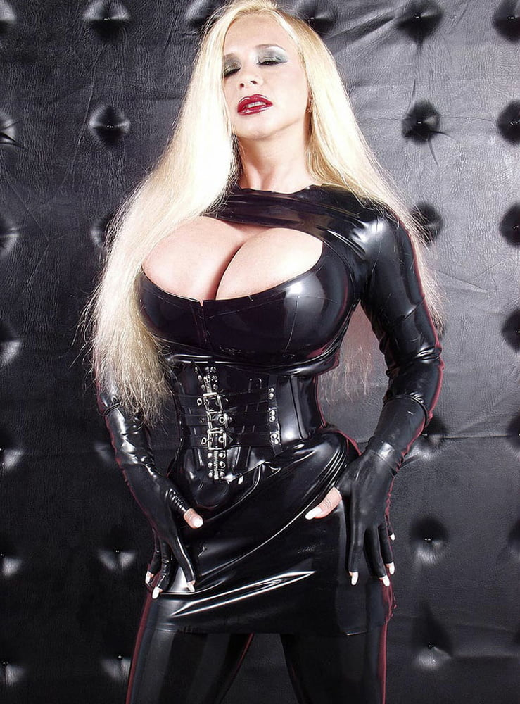 Picture with big titty milf wearing hot latex in public