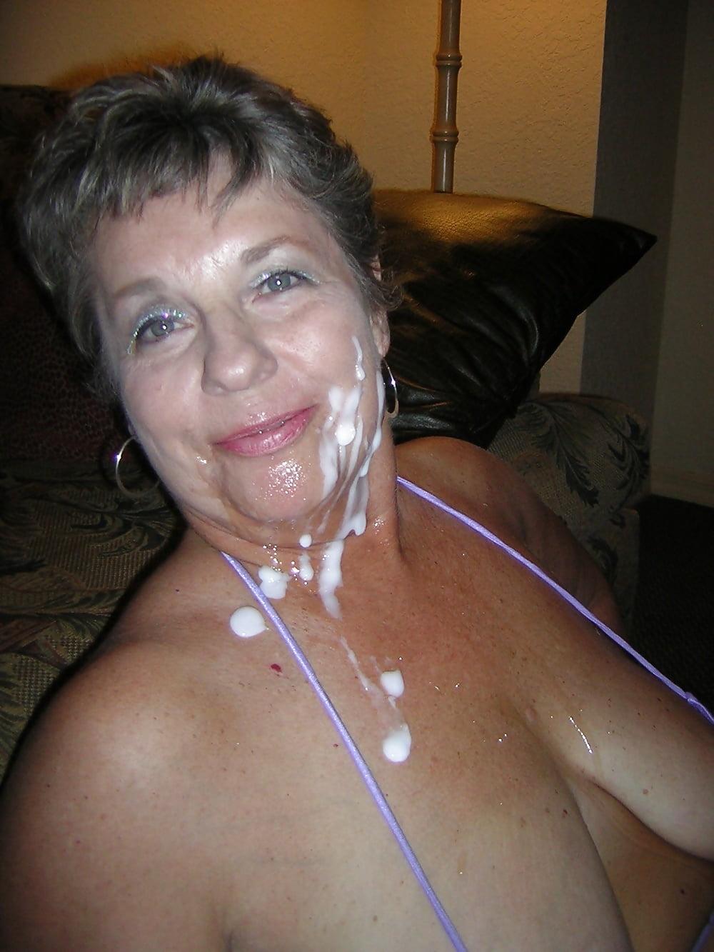 Lopsided indian granny cum facedtures