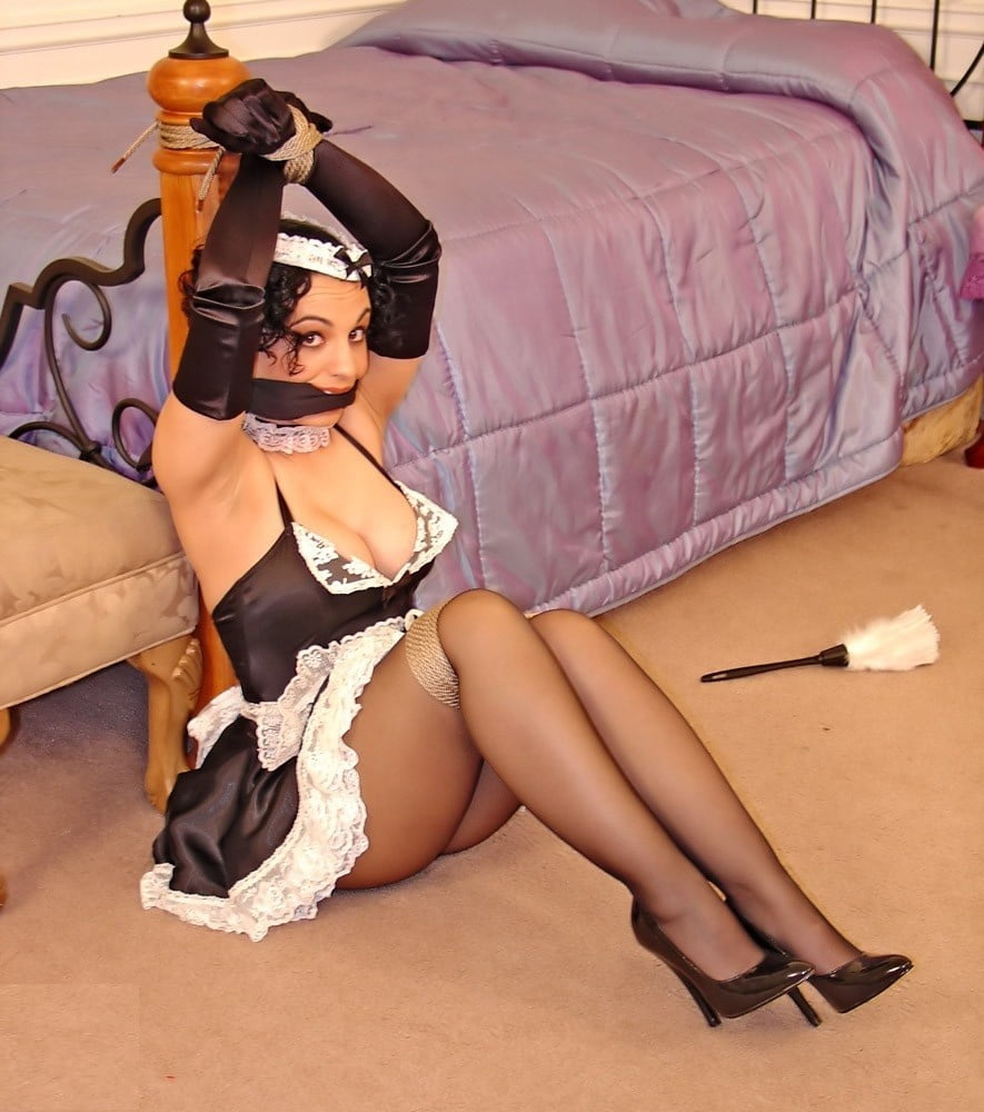 Anime french maid tied up