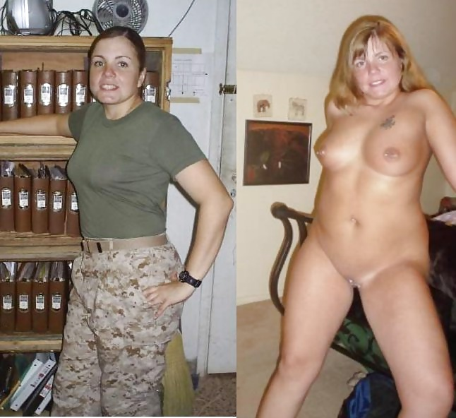 undressed Naked army girls dressed