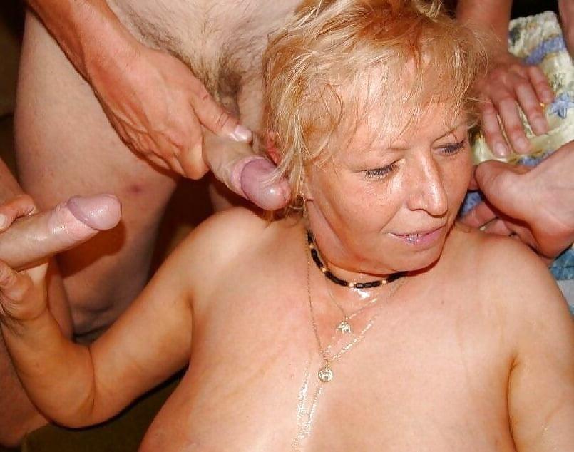 Chinese granny threesome gangbang