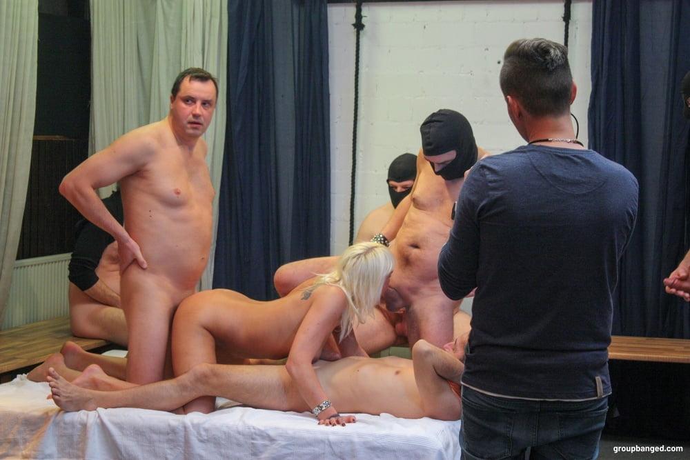 One Cumshot at a Time at GroupBanged - 13 Pics