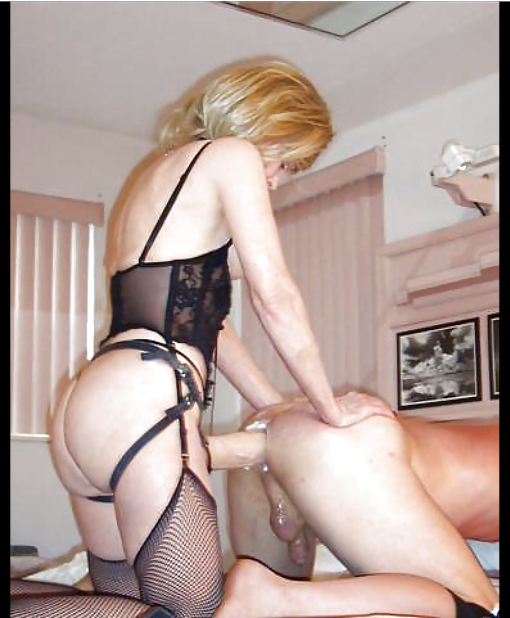 Bukkake powered wife fucks husband strap on naked sexy photos