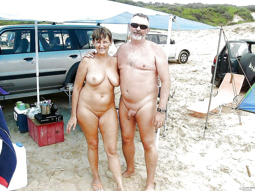 Nude couple camping — 3