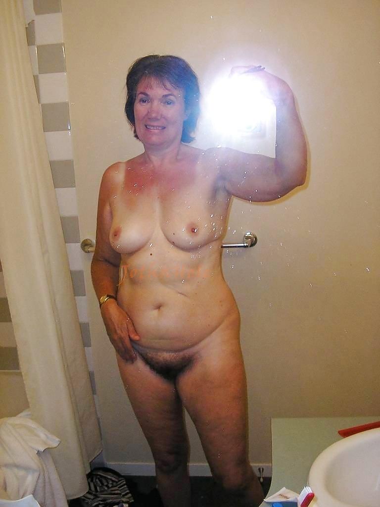 Selfie nude granny