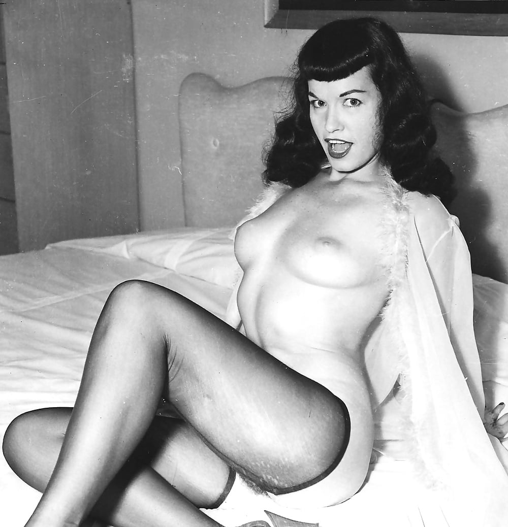 Bettie page nude color girls haff