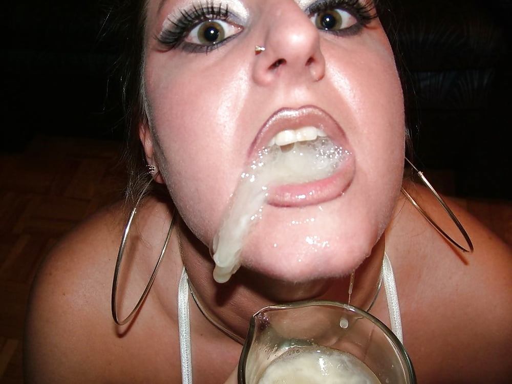 Drink cum out of pussy #4