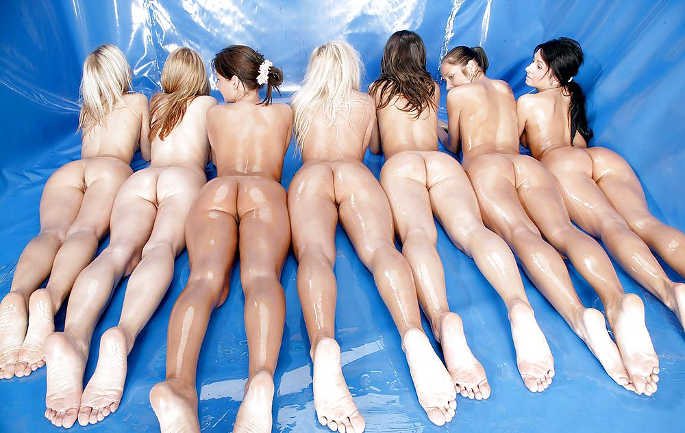 Group girls asses and pussy