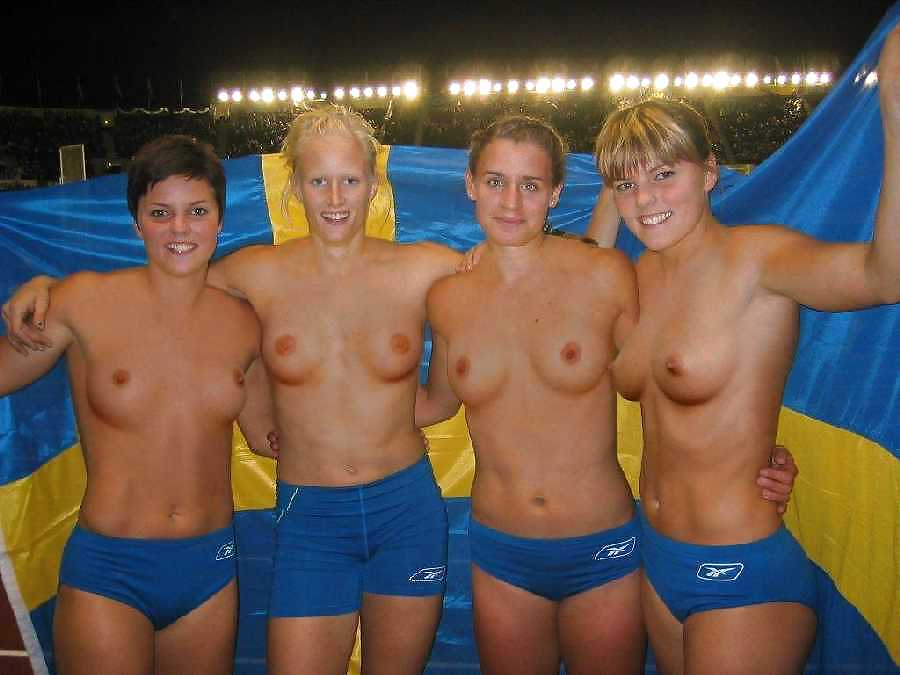 Naked female volleyball
