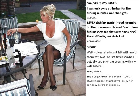 cuckold captions wife goes out
